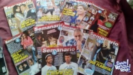Revistas usadas  Año 2013 - CARAS- PRONTO - SEMANARIO -HOLA