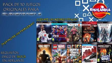 CARGA 10 JUEGOS EN CUALQUIER MODELO PS3!! SIN FLASH