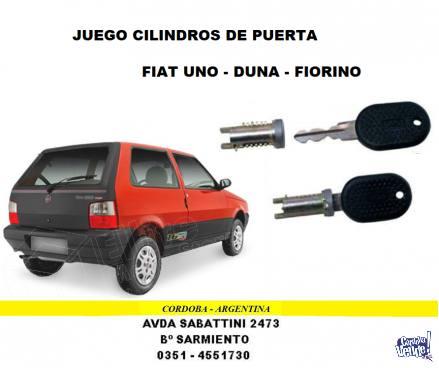 JUEGO CILINDRO DE PUERTA FIAT UNO - DUNA - FIORINO