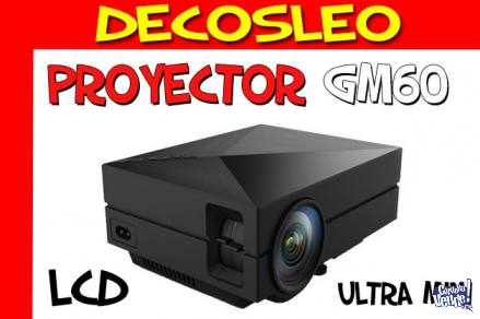 Proyector Tv Led Lcd Gm60 Full Hd Hdmi 1000 Lumens 30000 Hs