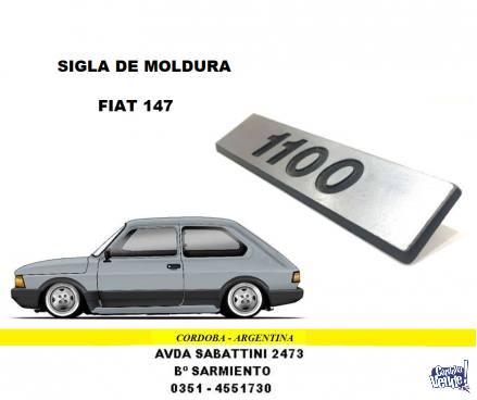 SIGLA DE MOLDURA FIAT 147 1100