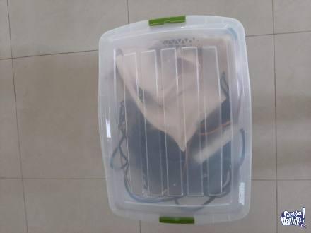 Caja con Cables DJ, Adaptadores y Zapatillas