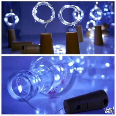 Corcho LED x 15 unid. - Blanco frío en Argentina Vende
