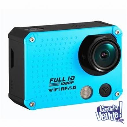 Camara Sportspro 1080p Hd Azul + Basto