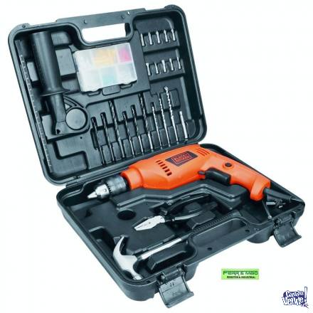 TALADRO BLACK AND DECKER 550 W MALETÍN Y 88 ACCESORIOS