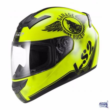 Casco Ls2 352 Fan Amarillo En Baccola Motos Cba