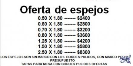 espejos ofertas en Argentina Vende