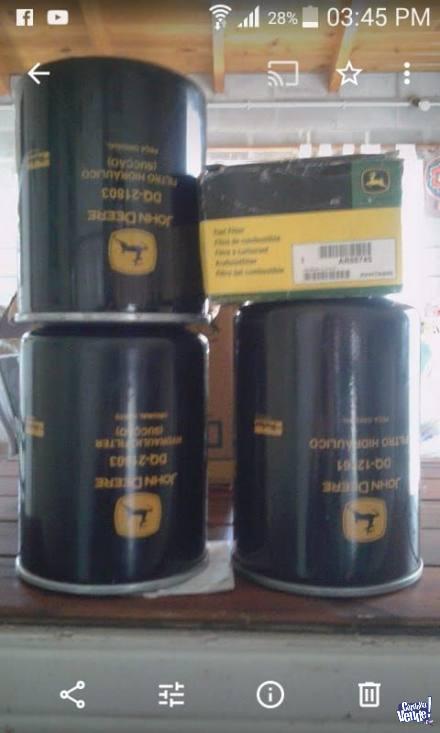 Filtros Originales John Deere en Argentina Vende