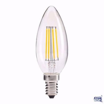 Lámpara Vela Filamento Led E14 5w Velita Cálida Ó Fria