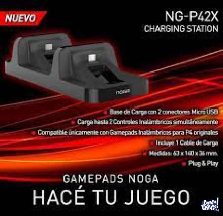 Base Cargador Joystick Ps4 Doble Noga P42x Gamer Soporte en Argentina Vende