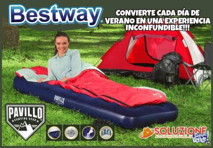 Colchon Inflable Bestway 1 Plaza 185 X 76 Cm Camping