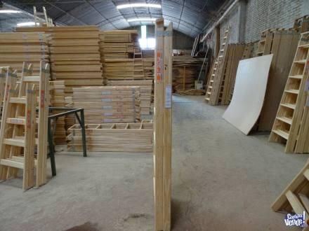 Escalera de madera tipo familiar doble acceso N7 SCALA en Argentina Vende