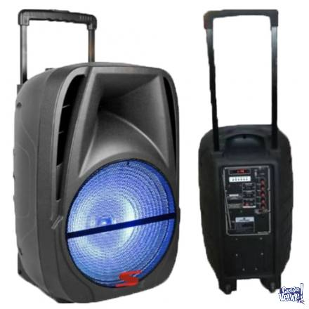 Bafle Amplificado 12 Senon 100w C/bateria + Microfono