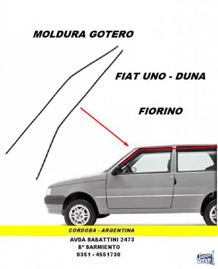 MOLDURA GOTERO FIAT DUNA-UNO-FIORINO