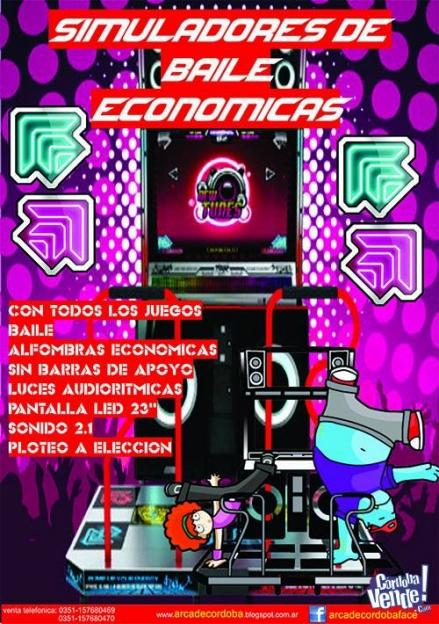 SIMULADOR DE BAILE ECONOMICO MAQUINA ARCADE PUMP IT UP DANCE