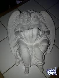 ángeles de yeso para pintar 20 cm de ancho x 27 de largo