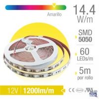 TIRA LED PROFESIONAL 5050 AMBAR IP20 INTERIOR X 5MTS
