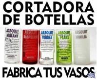 CORTADORA DE BOTELLAS DE VIDRIO