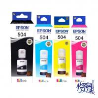 BOTELLA EPSON T504220-AL CYAN MAG YELL P/L4150/60/61/71/91