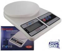 Balanza Digital de Cocina 1 gr.  a 10 kgr. Portatil INOVA