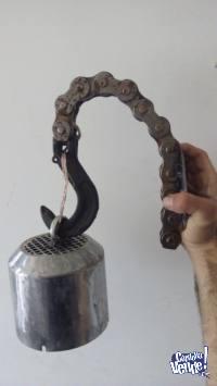 Aplique artesanal de cadena