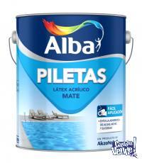 Pintura Piletas Alba Base Agua Blanco 4lt - COLORMIX