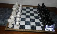 Juego de ajedrez artesanal cerámica