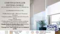 Cortinas Roller Sist Doble Premium (Black Out + Sunscreen)