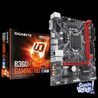 Placamadre Motherboard GIGABYTE 1151 V.2 B360M GAMING HD