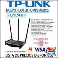 Router 4P TP-LINK WR941HP 450 mbps Rompe Muros 3X9DBI