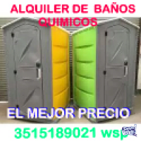 BAñOS QUIMICOS ALQUILER MENSUAL $