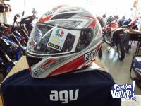 CASCO INTEGRAL AGV K3 BASIC ONE WHITE/RED