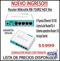 Router Mikrotik RB-750R2 hEX lite