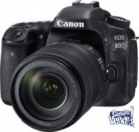 Canon 80D (W) + Lente 18-135mm IS USM + SD 16 GB