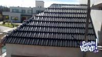 techos de madera con tejas de polimero