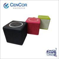 Parlante Portatil Cubo! Bluetooth/usb/microsd/aux! Cencor