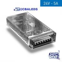 FUENTE SWITCHING 24V 5A METALICA