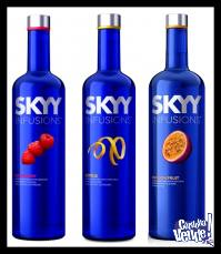 SKYY - CITRUS, PASSION FRUIT, RASP Y ANANÁ- VODKA - (750 ML