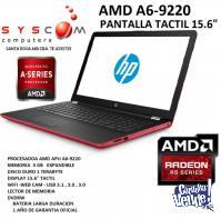 notebook hp amd a6-9220 con ati radeon y pantalla tactil