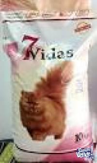 7 vidas gatos castrados x 10kg $2180