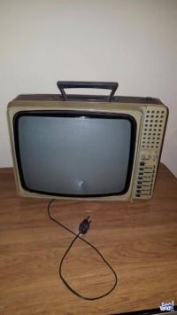 Antiguo 1976 Televisor portatil Philips B y N