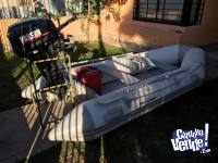 GOMON INFLABLE 4 M CON MOTOR 15 HP