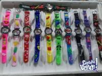 Oferta 12 relojes de niño analogicos motivos infantiles