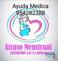 Atraso menstrual 954282388 CHIMBOTE Solución Medica