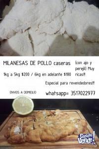 Milanesas de pollo( con ajo y perejil)