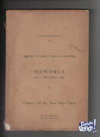 MEMORIA MIN:DE O.PUBLICAS Sta Fe 1949/1950 J.H.Caesar USS 30