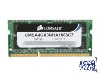 Memoria Corsair CMSA4GX3M1A1066C7 4GB 1066MHz C7 Sodimm Mac