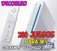 Carga juegos de Wii en tu disco 280 juegos ORIGINALES