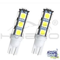 Lampara 12v T10 5050 Blanco 6000k 13 Led