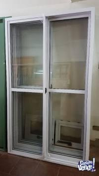 Puerta ventana aluminio 1,20 x 2,00 línea Herrero
